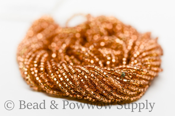 11/0 Seed Beads Light Topaz Copper Lined