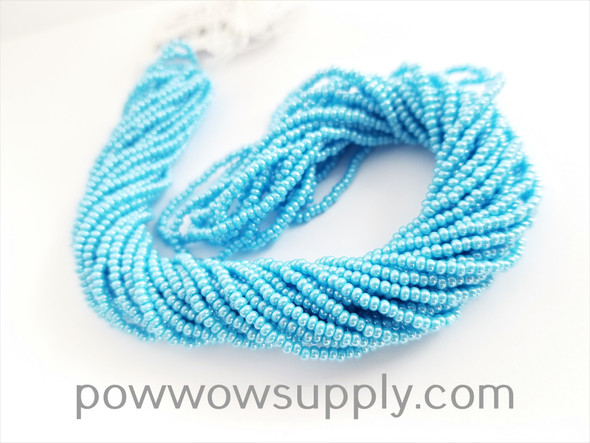 11/0 Seed Beads Opaque Luster Light Turquoise