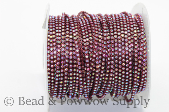 Chinese SS6 Maroon/Crystal AB