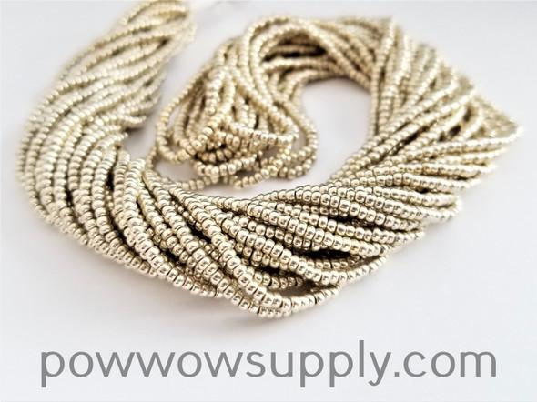 12/0 Seed Beads Metallic Silver