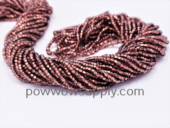 11/0 Seed Beads Copper Lined Amethyst