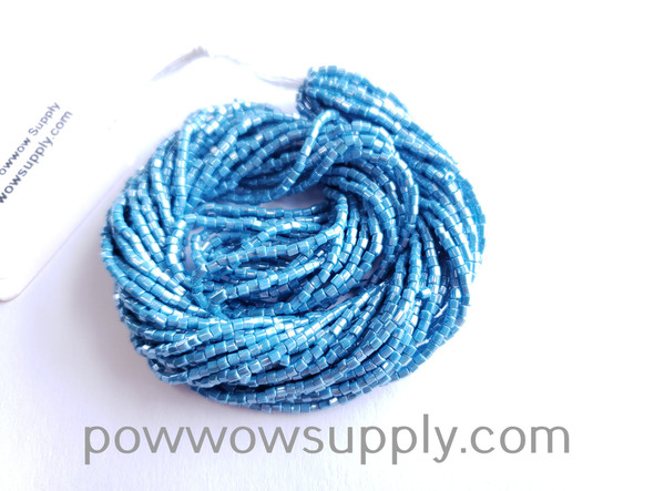 11/0 2-cuts Opaque Luster Turquoise Blue