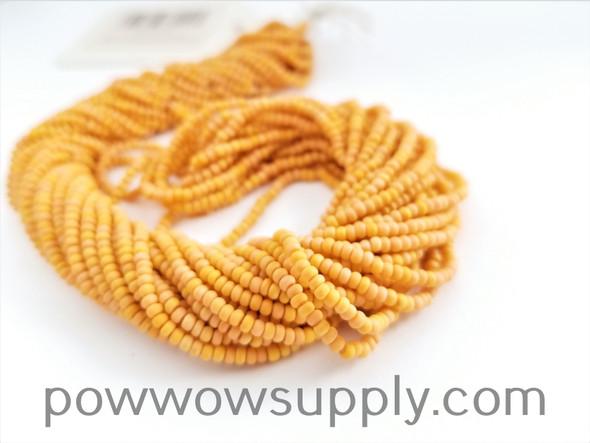 11/0 Seed Beads Opaque AB Matte Light Orange