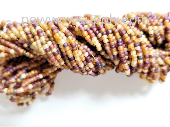 11/0 Seed Beads Transparent AB Matte Topaz Mix