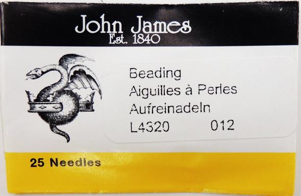 Size 12 Beading Needles (25 pc)