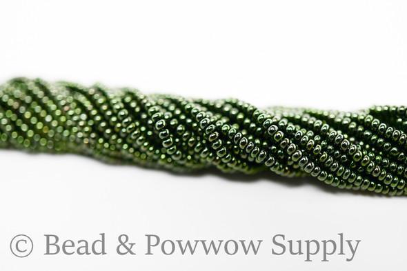 11/0 Seed Beads Metallic Dark Green