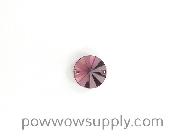 3200 Rivoli 14mm Crystal Amethyst Partly Frosted (sold individually)