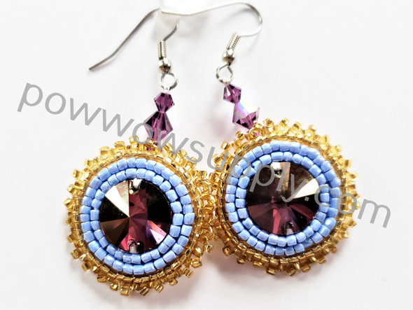 Lilac Shadow Earrings