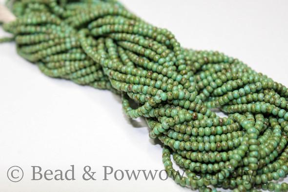 11/0 Seed Beads Travertine Green Turquoise
