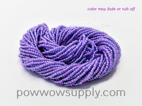 11/0 Seed Beads Aqua Pink Lined