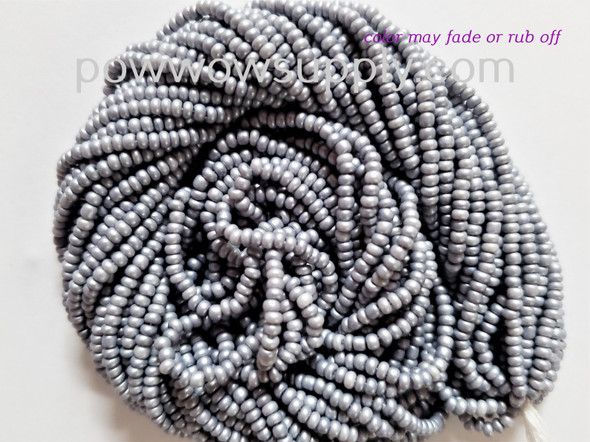 11/0 Seed Beads Pearl Matte Silver