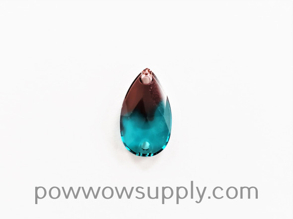 3230 Pear 18x10.5mm Burgundy-Blue Zircon Blend (sold individually)