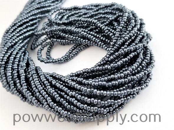 13/0 Seed Beads Metallic Gunmetal