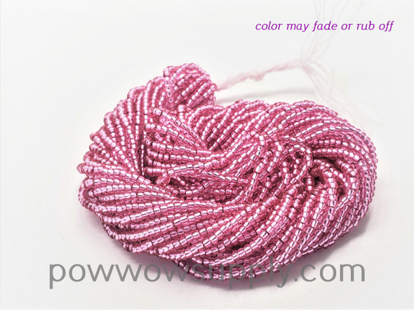 11/0 Seed Beads Silver Lined Hot Pink (dyed)