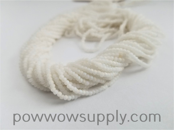 11/0 Seed Beads Opaque AB Matte White