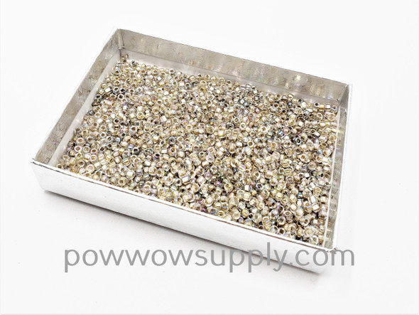 10/0 Seed Beads Silver Lined AB Crystal (Loose)