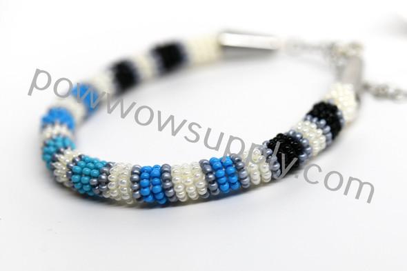 Turquoise Greyscale Bracelet