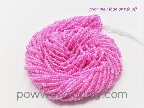 11/0 Seed Beads Hot Pink Lined Crystal