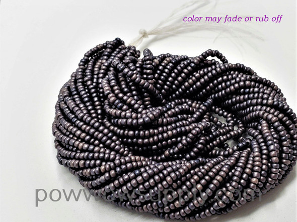 11/0 Seed Beads Pearl Matte Gunmetal