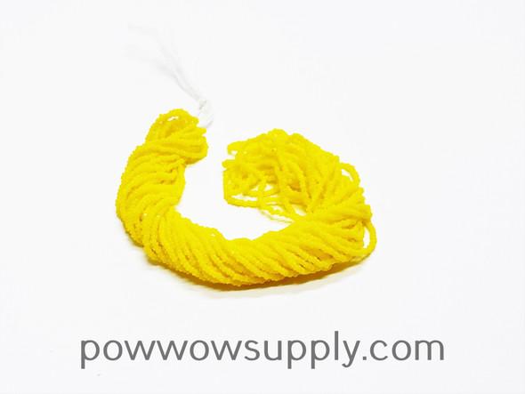 15/0 Charlottes Opaque Lemon Yellow