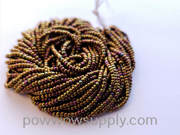 11/0 Seed Beads Metallic Iris Copper