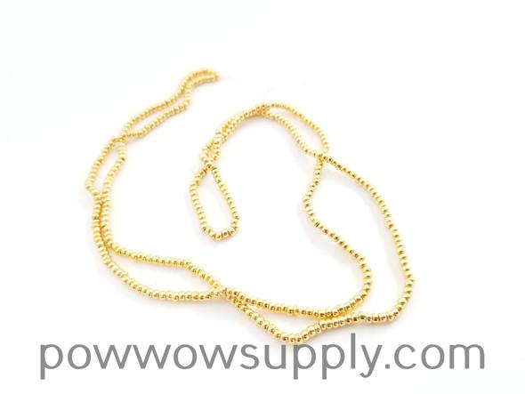 11/0 Seed Beads Metallic 24k Gold Plated (single strand)