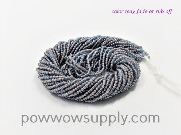 11/0 Seed Beads Aqua Red Lined