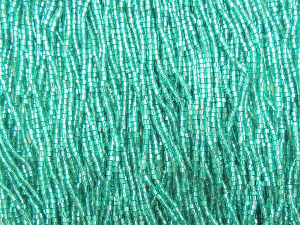 11/0 2-cuts Silver Lined Blue Zircon