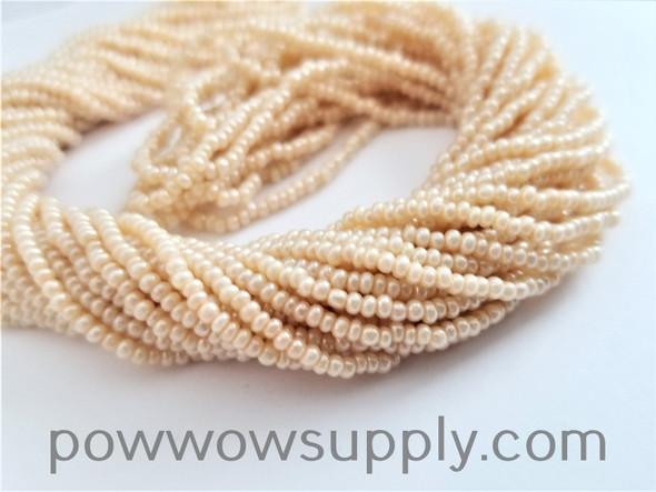 13/0 Seed Beads Pearl Eggshell