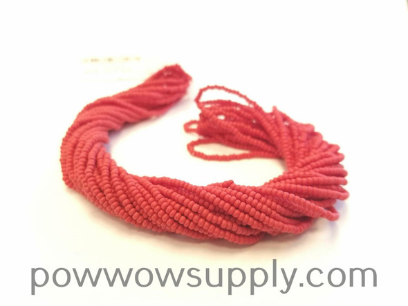 11/0 Seed Beads Opaque Matte Red