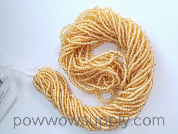 11/0 Seed Beads White Lined Light Topaz