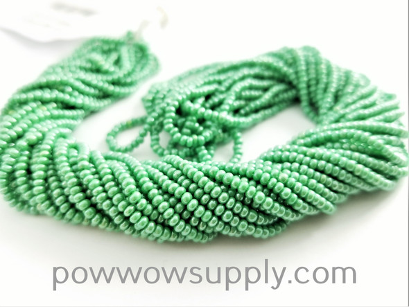11/0 Seed Beads Opaque Luster Light Green