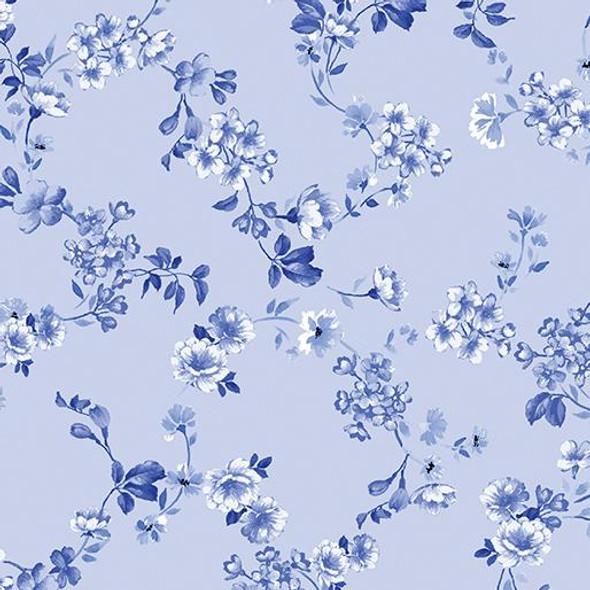 Petite Fleur Vine Powder Blue