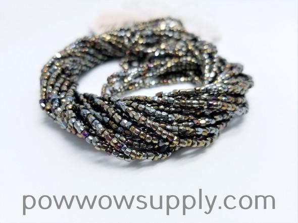 9/0 3-cuts Metallic Iris Brown