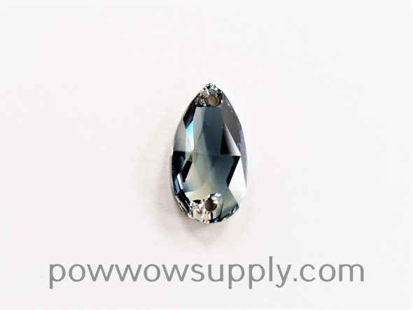 3230 Pear 18x10.5mm Montana Blue-Crystal Blend (sold individually)