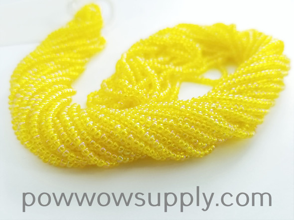 11/0 Seed Beads Transparent AB Yellow