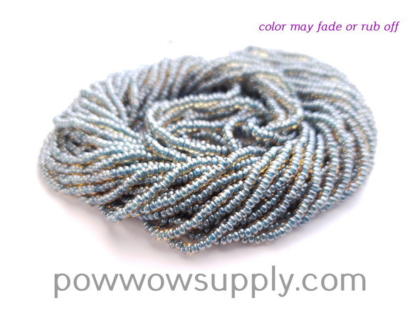 11/0 Seed Beads Topaz Blue Lined