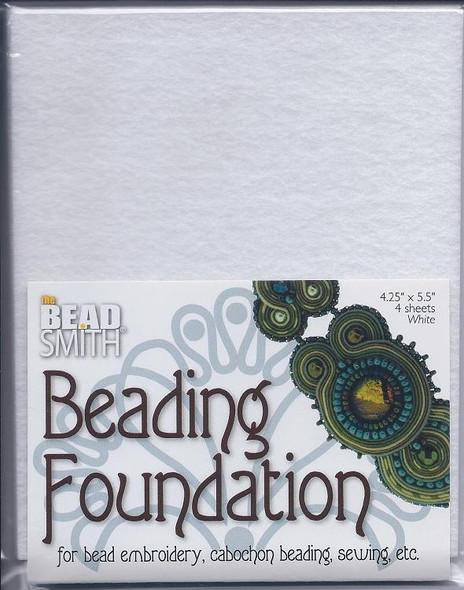 Beading Foundation 4.25x5.5 White (4 pc)