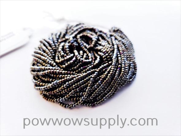 11/0 Seed Beads Metallic Iris Brown