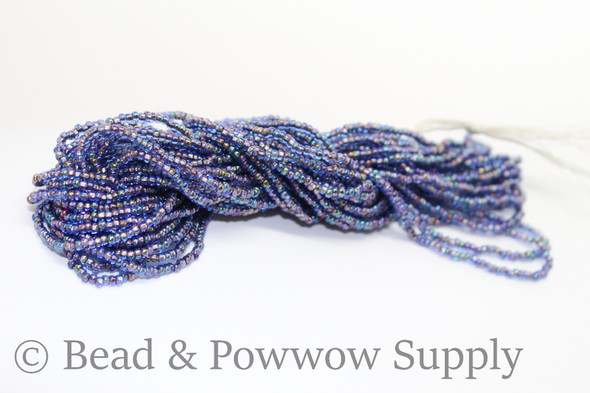 11/0 Seed Beads Copper Lined Sapphire AB