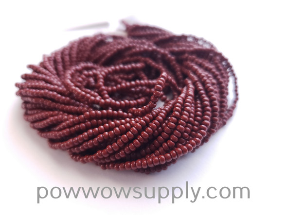 13/0 Seed Beads Opaque Medium Brown (Rust)