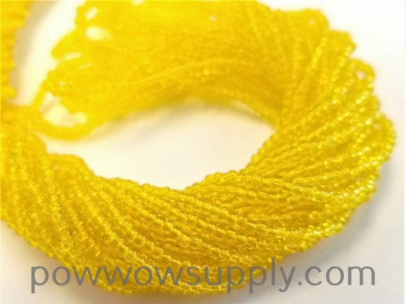 12/0 Seed Beads Transparent Yellow