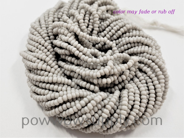 11/0 Seed Beads Opaque Oyster Grey (tint)