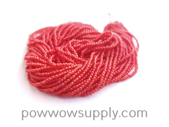 11/0 Seed Beads Red Whiteheart
