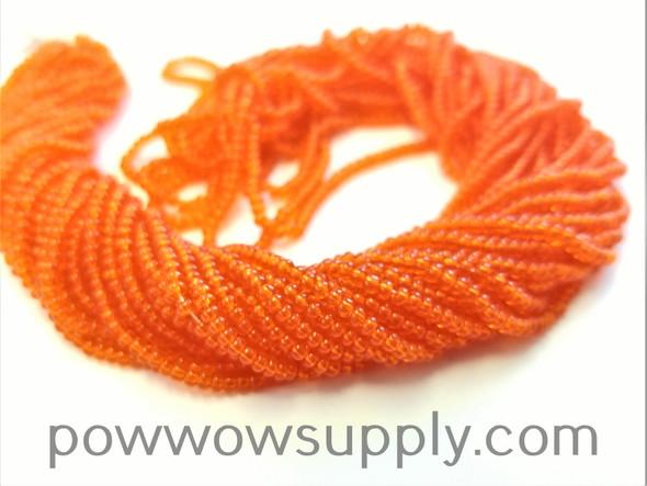 10/0 Seed Beads Transparent Dark Orange