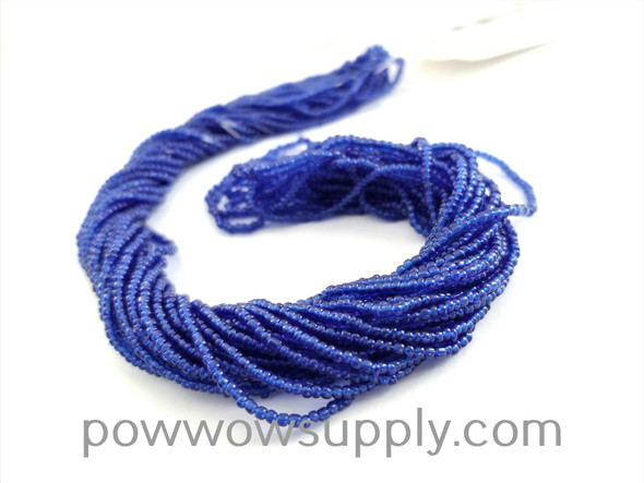 13/0 Seed Beads Transparent Dark Sapphire