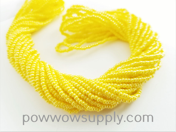 11/0 Seed Beads Opaque Luster Lemon Yellow