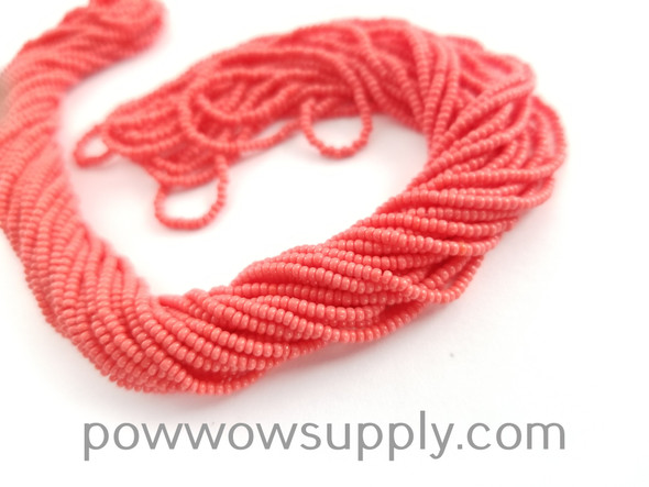 12/0 Seed Beads Opaque Coral Red