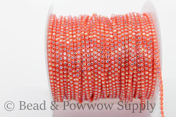 Chinese SS6 Neon Orange-Crystal AB
