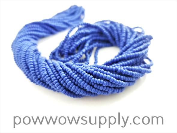 11/0 Seed Beads Opaque Matte Medium Blue